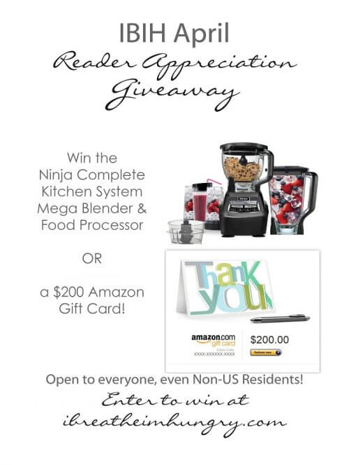 April Reader Appreciation Giveaway Ninja