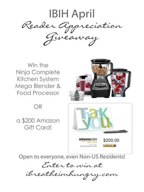 April Reader Appreciation Giveaway Ninja