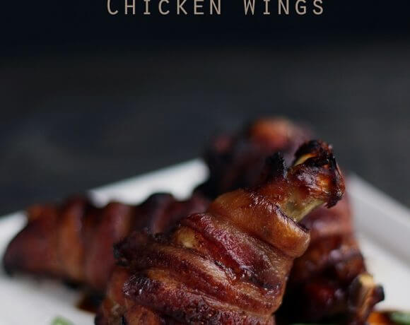 Low Carb Bacon-Wrapped Asian Chicken Wings