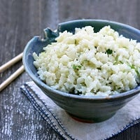 low carb faux rice recipe from Mellissa Sevigny at I Breathe Im Hungry