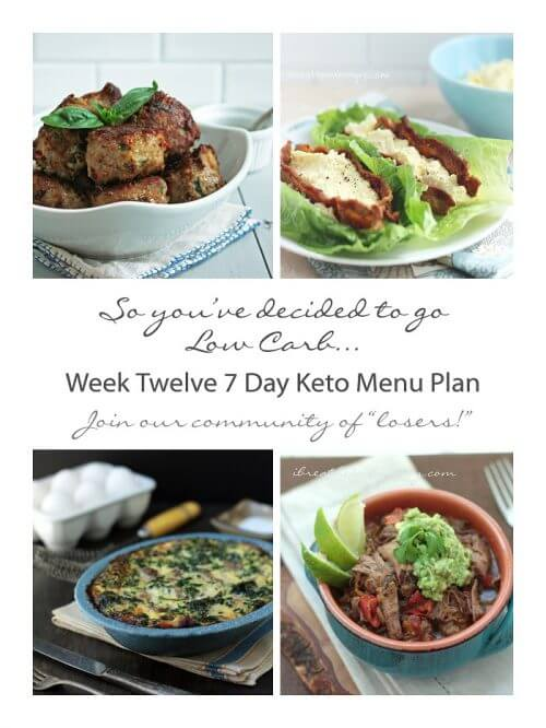 Free weekly keto menu plans from I Breathe Im Hungry
