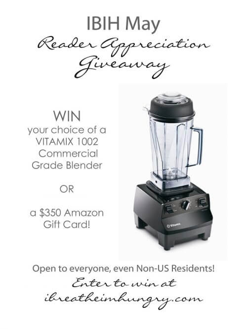 Vitamix giveaway from Mellissa Sevigny of I Breathe Im Hungry