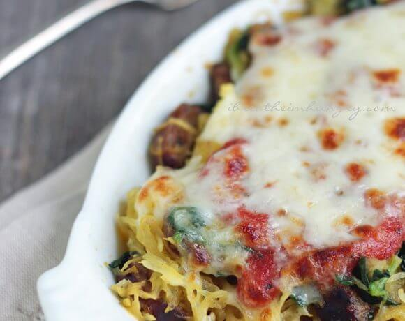 Sausage, Spinach & Spaghetti Squash Bake – Low Carb & Gluten Free