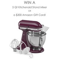 June Kitchenaid Stand Mixer Giveaway