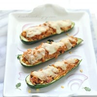 BBQ Chicken Stuffed Zucchini – Low Carb and Gluten Free Recipe
