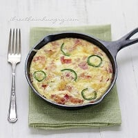 Jalapeno Popper Frittata Low Carb and Gluten Free Recipe