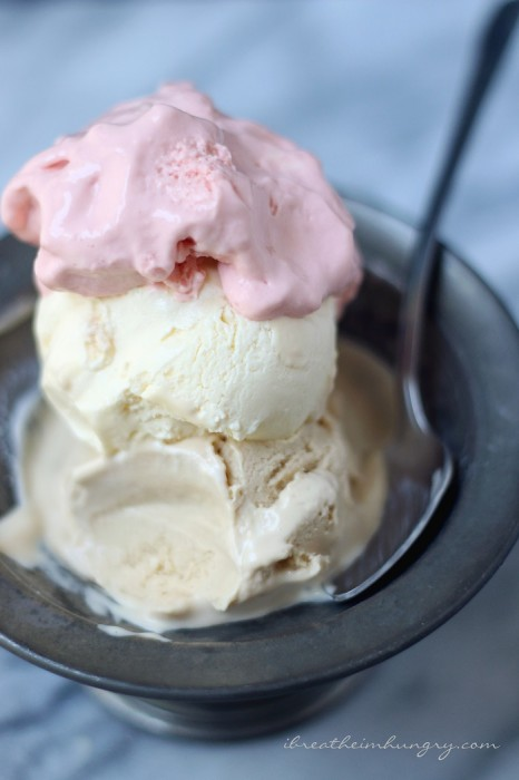A low carb and egg fast friendly ice cream recipe from Mellissa Sevigny of I Breathe Im Hungry
