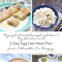 Egg Fast Diet Menu Plan Low Carb and Keto