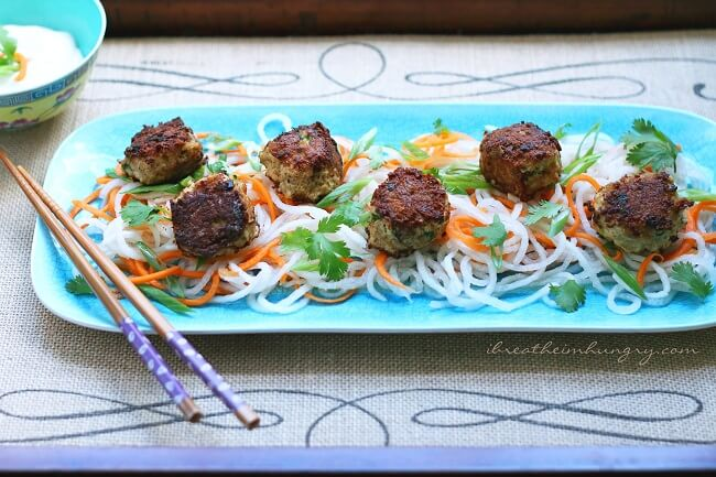 a gluten free meatball recipe from Mellissa Sevigny of I Breathe Im Hungry