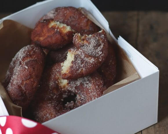 a gluten free apple cider donut recipe from Mellissa Sevigny of I Breathe Im Hungry
