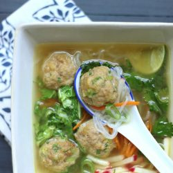 A low carb Asian inspired Meatball recipe from Mellissa Sevigny of I Breathe Im Hungry