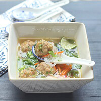 An Asian inspired low carb meatball recipe from Mellissa Sevigny of I Breathe Im Hungry