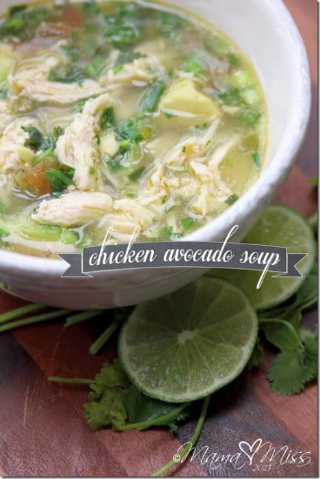 Chicken Avocado Soup Low Carb