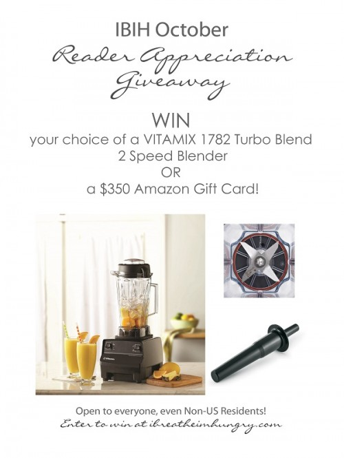 I Breathe Im Hungry is giving away a Vitamix Blender
