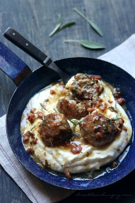 A low carb and Atkins diet friendly meatball recipe from Mellissa Sevigny of I Breathe Im Hungry
