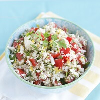 Cauliflower Tabbouleh Salad – Low Carb and Gluten Free