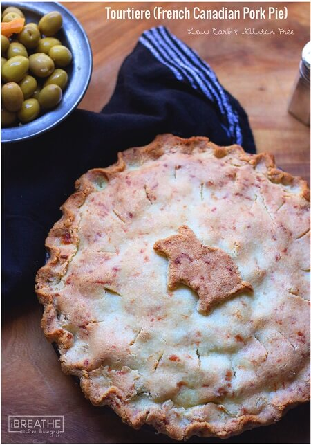 This low carb and gluten free version of the traditional Tourtiere, a French Canadian pork pie is just as good as my grandmothers!