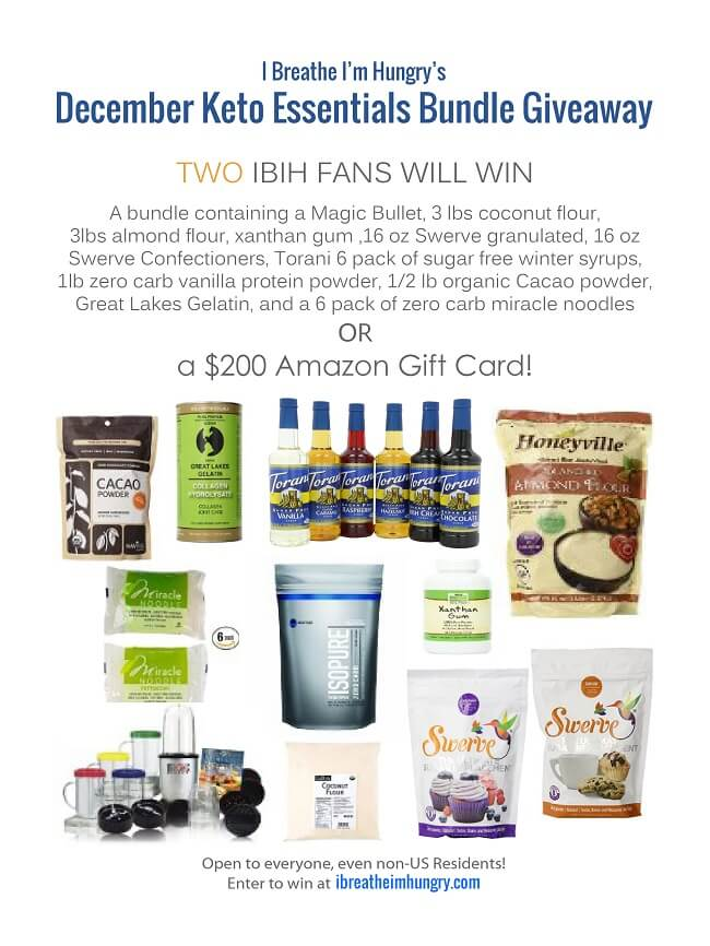 A keto giveaway from Mellissa Sevigny of I Breathe Im Hungry