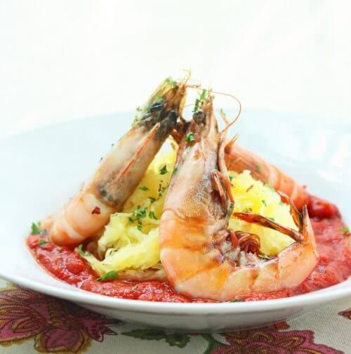 low carb shrimp fra diavalo