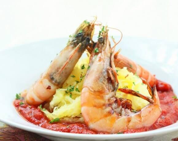 Shrimp Fra Diavolo w/ Spaghetti Squash (Paleo)