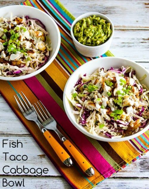 low carb fish taco bowl