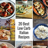 A low carb italian recipes roundup from Mellissa Sevigny of I Breathe Im Hungry