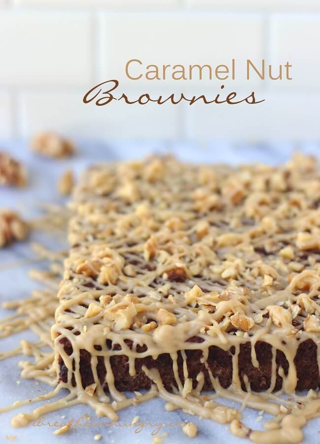 Delicious Keto Caramel Nut Chocolate Brownies - low carb and gluten free