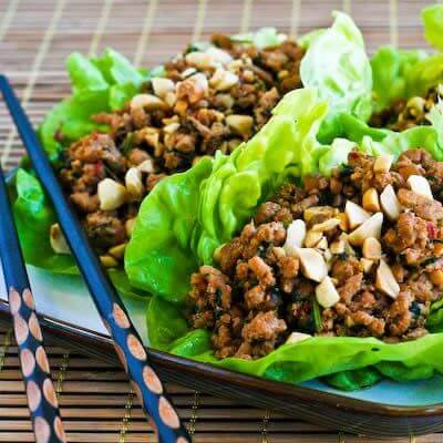 Low Carb Asian Lettuce Cups