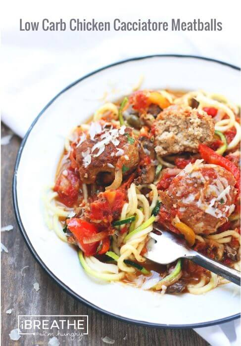 A low carb meatball recipe from I Breathe Im Hungry - gluten free, keto, lchf, Paleo, and Atkins diet friendly!