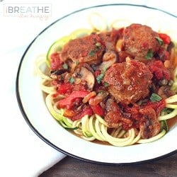 A low carb meatball recipe from Mellissa Sevigny of I Breathe Im Hungry