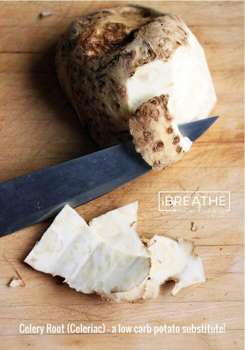 How to prepare Celeriac in a low carb diet by I Breathe Im Hungry