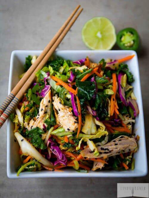 Low Carb Asian Chicken Salad Recipe