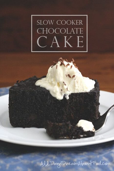 gluten free slow cooker chocolate cake