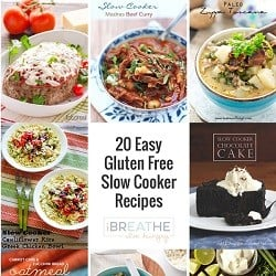 A collection of gluten free slow cooker recipes on I Breathe im Hungry