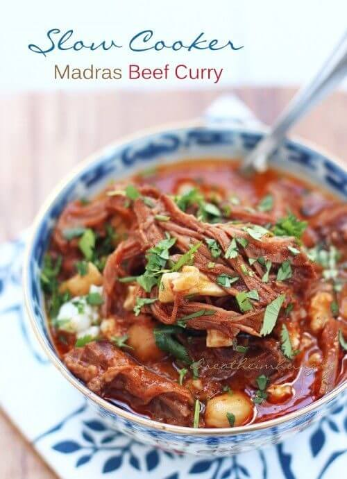 Gluten free slow cooker madras beef curry