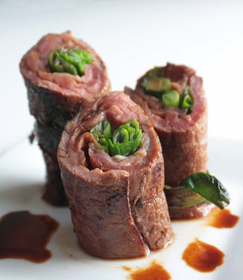 Low Carb Beef Negimaki Recipe