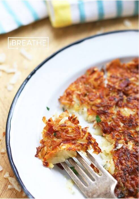 A low carb Rosti recipe from I Breathe Im Hungry - perfect for breakfast or dinner!