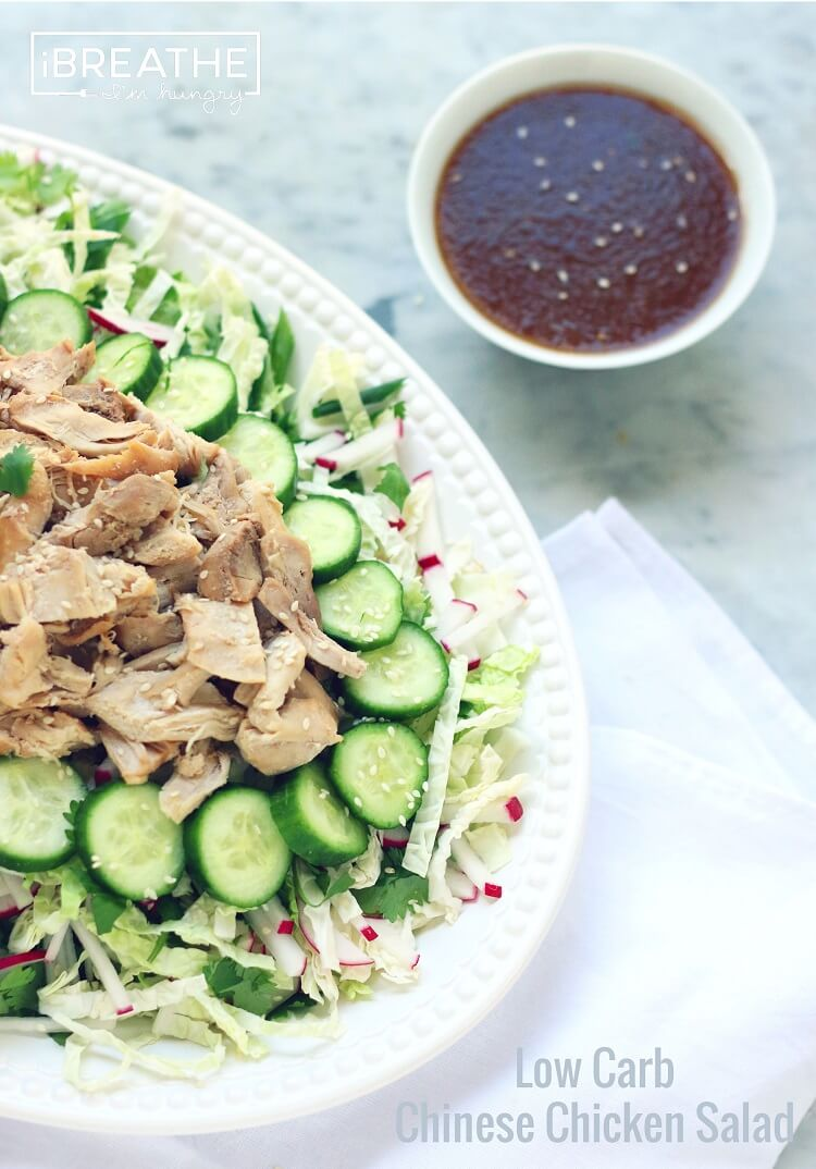 Low Carb Chinese Chicken Salad I Breathe I M Hungry