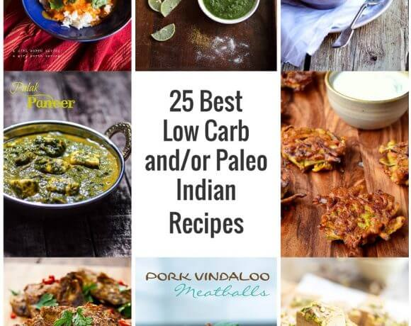 Some of the best low carb and or Paleo Indian inspired recipes from around the web!
