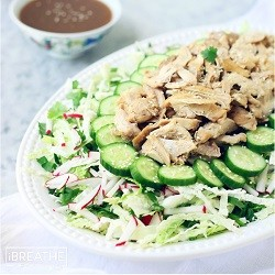 A low carb Asian inspired salad recipe from Mellissa Sevigny of I Breathe Im Hungry