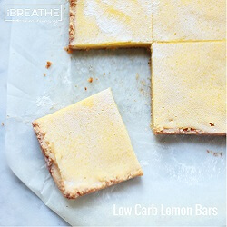 A low carb lemon bars recipe from Mellissa Sevigny of I Breathe Im Hungry