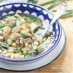 Low Carb Mexican Chicken Soup from Mellissa Sevigny of I Breathe Im Hungry