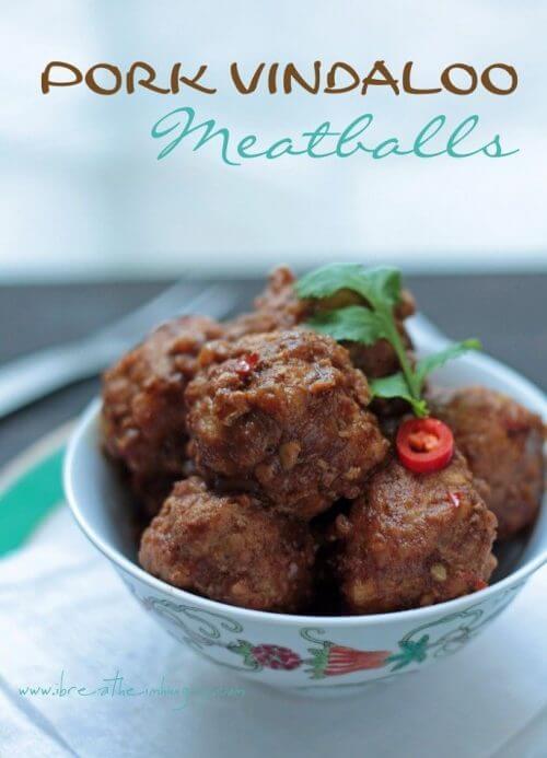 Low Carb Pork Vindaloo Meatballs