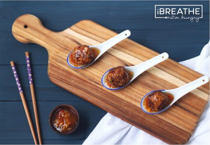 a low carb meatball recipe from I Breathe Im Hungry