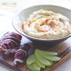 This low carb hummus is so delicious that you'd never know it was grain free and made with super healthy cauliflower! ibreatheimhungry.com