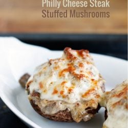These delicious Philly Cheese Steak Stuffed Mushrooms will be a hit with the entire family! Low carb and gluten free too!