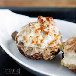 These delicious Philly Cheese Steak Stuffed Mushrooms by Mellissa Sevigny will be a hit with the entire family! Low carb and gluten free too!