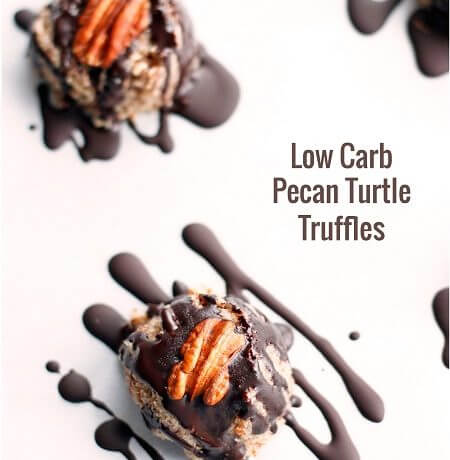 These delicious pecan turtle truffles come together in just minutes and are sugar free, low carb, and keto friendly!