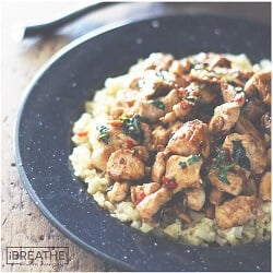 Thai Chicken with Basil & Cauliflower Fried Rice – Low Carb