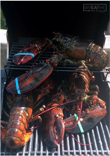 Low carb lobster on the grill by Mellissa Sevigny of I Breathe Im Hungry